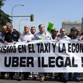 Uber mensch, taxissztrájk