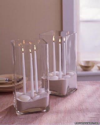 karácsonyi gyertya vázában