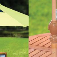 mobiltöltős napernyő