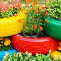 Autógumi újrahasznosítása virágtartóként - tucatnyi kreatív ötlet fotókkal