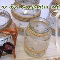 Készítsünk romantikus őszi mécsestartót egyszerű befőttesüvegből +fotók