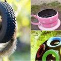 Készíts autógumiból kerti játékokat, amit minden kisgyerek imádni fog!