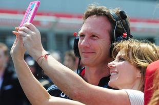 Együtt Christian Horner és Geri Halliwell