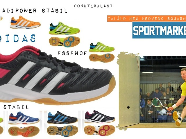 Adidas kézilabdás és squash cipő kedvezően
