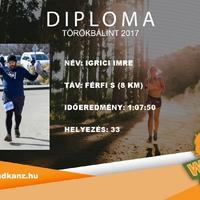 A vasárnapi futásomról már diplomám is van!