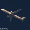 Contrail spotting - Lencsevégen az ezredik legyártott 777-es