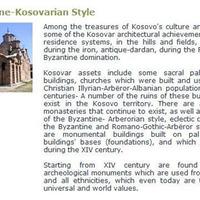 VISIT KOSOVA! Bizánci – Koszovói építészeti stílus?