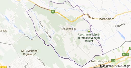 ásotthalom térkép Hol a határ?   Serbia Insajd ásotthalom térkép
