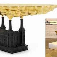 Gyárkémény asztal