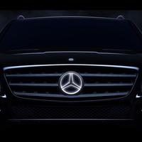 Világító Mercedes embléma