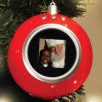 Digitális képkeret a karácsonyfán