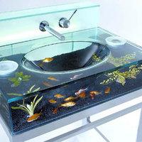 Akvárium mosdó