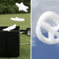 Flogos, a repülő buborék/hab reklám