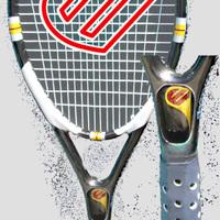 Huzatos nyelű teniszütő