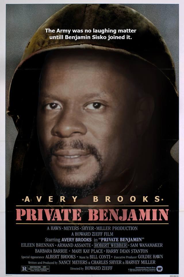 Benjamin közlegény<br />'A hadsereg nem volt vicces, amíg Benjamin Sisko nem csatlakozott.'