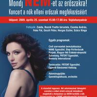 Koncert a nők elleni erőszak megfékezéséért