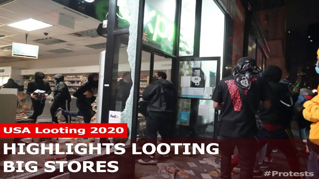 Az amerikai tiltakozás hullámra vandál fosztogatók is rácsatlakoztak!