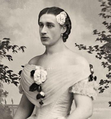 Ismeretlen drag queen 1830-ból