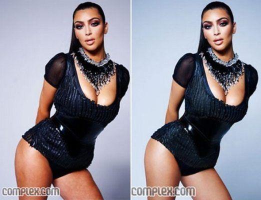 Az egyik legnagyobb Photoshop királynő őfelsége, Kim Kardashian.<br />