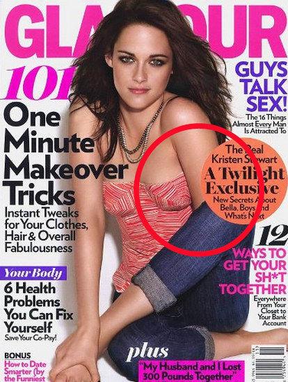 Hová tűnt Kristen Stewart bal keze? És ezt miért nem vette észre senki a Glamour munkatársai közül?<br />