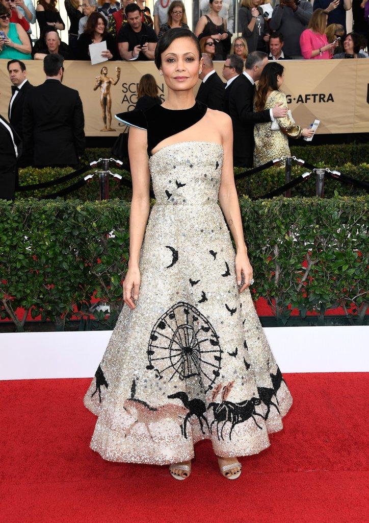 Thandie Newton Schiaparelli Couture ruhában