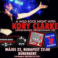 A WILD ROCK NIGHT WITH KORY CLARKE (WARRIOR SOUL/SPACE AGE PLAYBOYS/TROUBLE) + THE JOYSTIX(HUN)