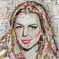 Lindsay Lohan portré szemétből
