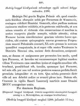 fogalmazásos önéletrajz minta Hedvig lengyel királynénak adománya egyik udvari hölgye számára  fogalmazásos önéletrajz minta