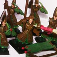 Spearman osztag festése folyamatban - fotóval