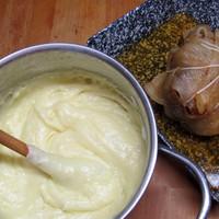 Mangalicacomb sajtos krumplipürével, aligot-val