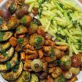 Nyári zöldségek, rókagombával és persillade-dal