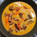 Indiai fűszeres birka curry tejföllel, krumplival