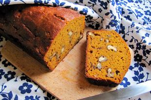 Amerikai sütőtökös kenyér dióval, melasszal