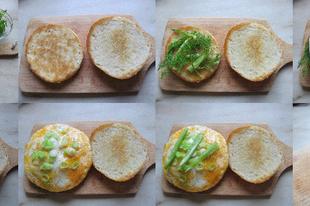 Könnyű omlettszendvics a későn kelőknek