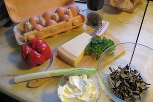 A vasárnapi trombitagombás sajtos frittata szétszedve