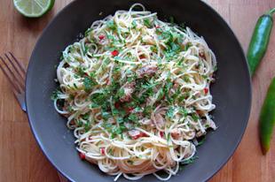 Szardíniás spagetti dél-itáliai módra