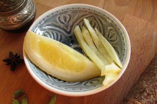 Tömény citromkivonat: marokkói sós citrom