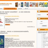 Olvasónaplók.hu - Olvasónapló, jellemzések, rövid tartalom