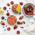 Friss gyümölcsös, citromkrémes és csokis-levendulás tartok