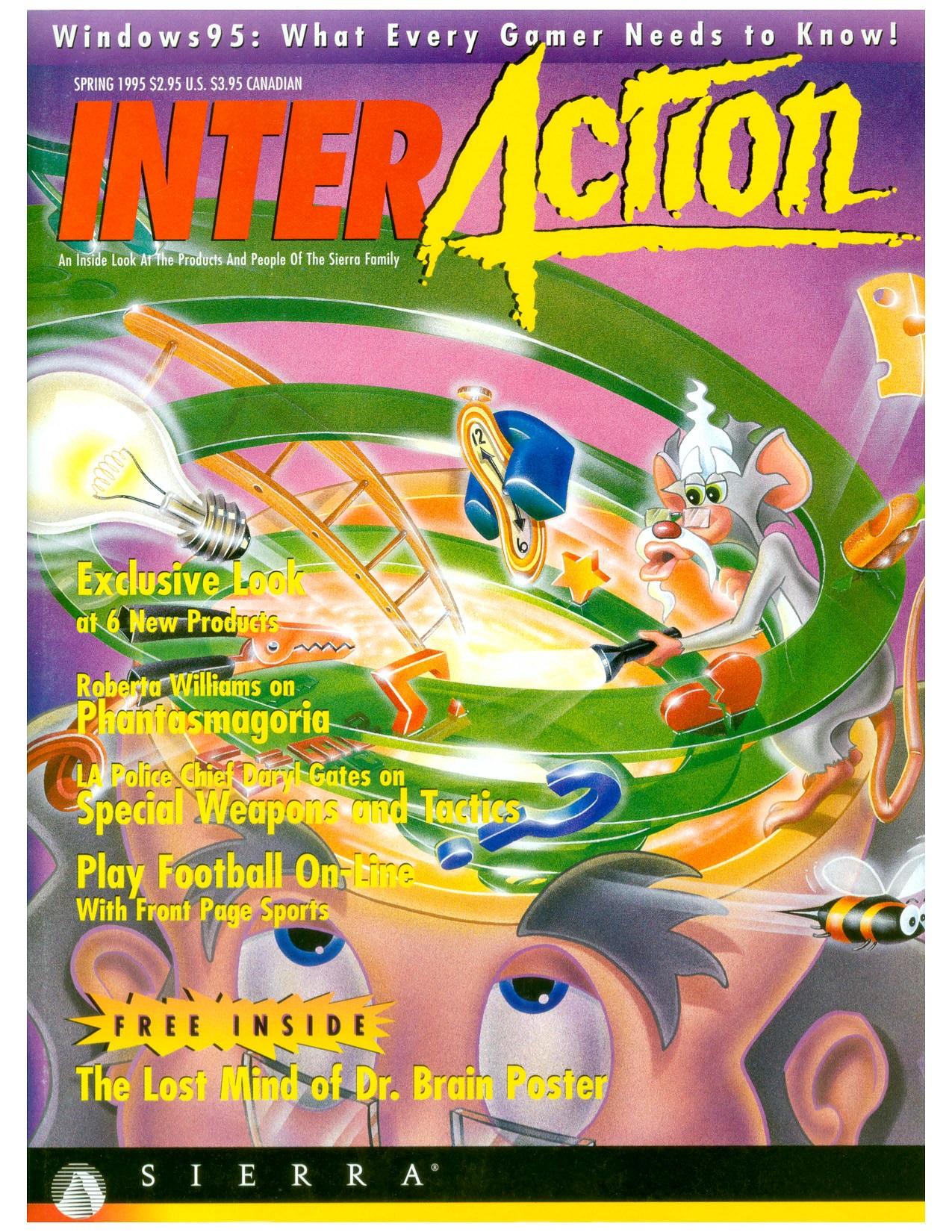 InterAction 1995 tavaszi száma. Több oldalas interjú és kulisszák mögötti adok-kapok a Phantasmagória közelgő megjelenése kapcsán.