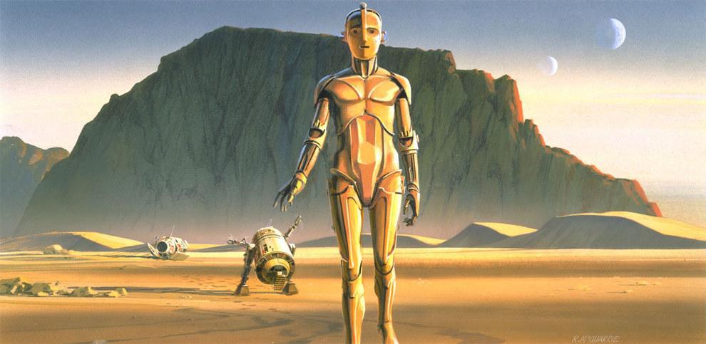 C-3PO külseje eleinte erősen hajazott a Metropolis egyik főhősére.