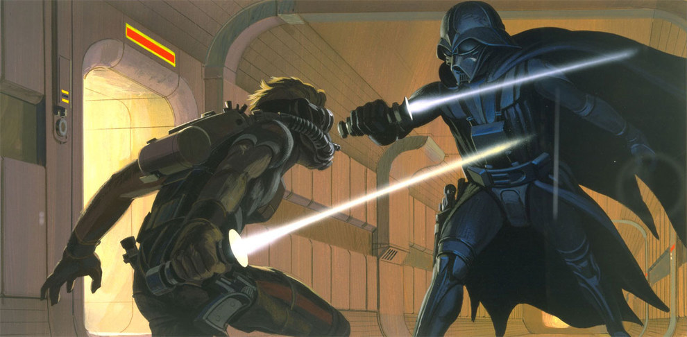A képen nem Luke, hanem 'Deak Starkiller' látható. A második draftban még ő volt az egyik főhős.