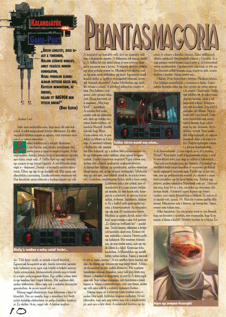 Végigjátszás a magyar Pc-X magazin 1995/10 számában...