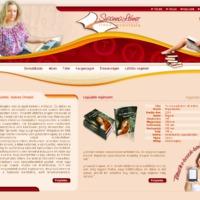 A készülő weboldal látványterve