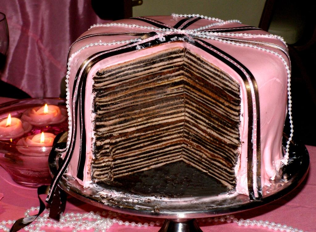 marcipán torta képek Sokrétegű marcipán torta   Édességek marcipán torta képek