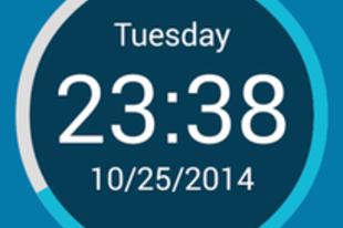 Round Clock Widget - HU