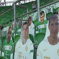 Videó: Karton bábúk nézik majd a Fradi meccset