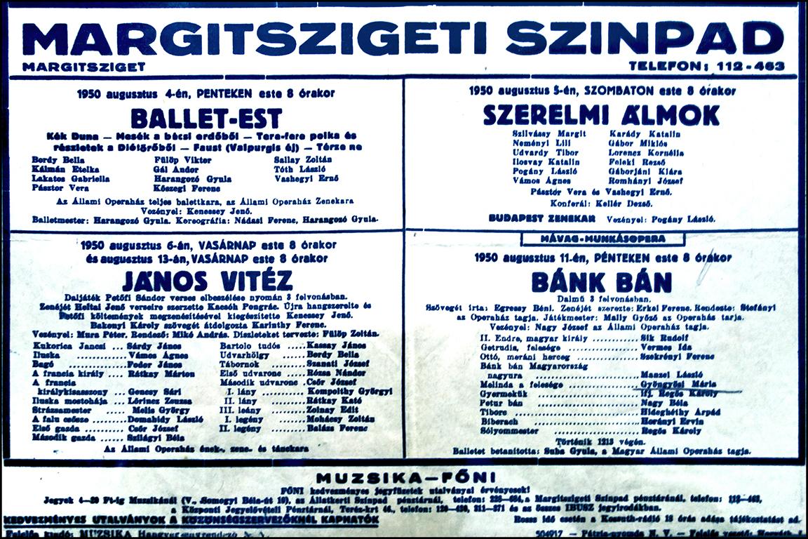 Korabeli plakát Jaksics György gyűjteményéből