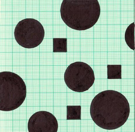 23x23 cm, papír, tus, 2015