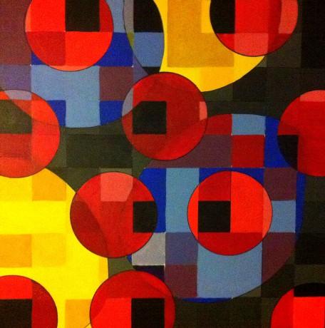 Cím nélkül, 100x100 cm, 2016